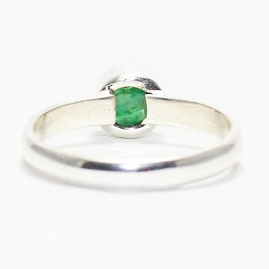 Rings Beautiful NATURAL INDIAN EMERALD Gemstone Ring Birthstone 925 Sterling Silver Fashion Handmade All Size Gift - by Jewelry Zone