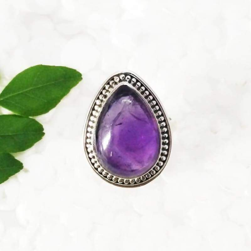 Rings Beautiful NATURAL PURPLE AMETHYST Gemstone Ring Birthstone 925 Sterling Silver Fashion Handmade All Size Gift