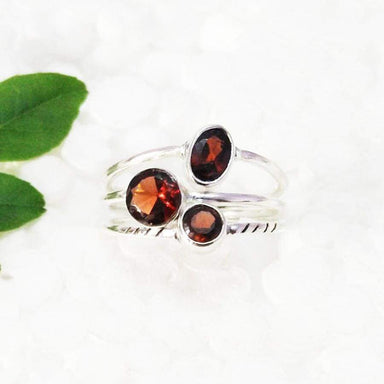 Rings Beautiful NATURAL RED GARNET Gemstone Ring Birthstone 925 Sterling Silver Fashion Handmade All Size Gift