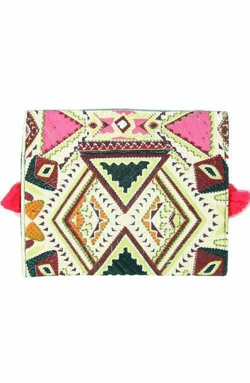 Beautiful Oversized Multicolored Hmong Clutch - Clutches
