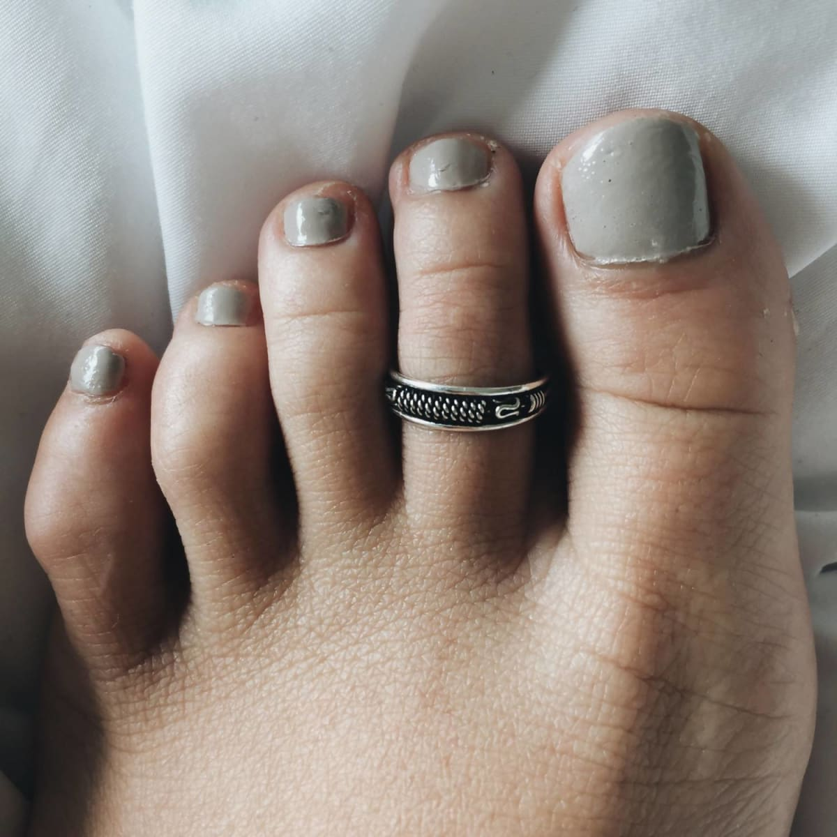Toe Rings Beautiful Sterling Silver Ring Thai Jewelry - by SilverCartel