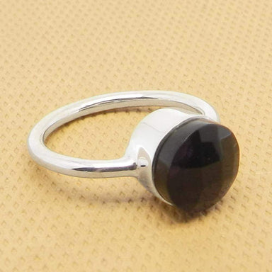 Rings Black Onyx 925 Sterling Silver Bezel Set Gemstone Ring Jewelry