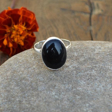 Rings Black Onyx Gemstone 925 Sterling Silver Ring