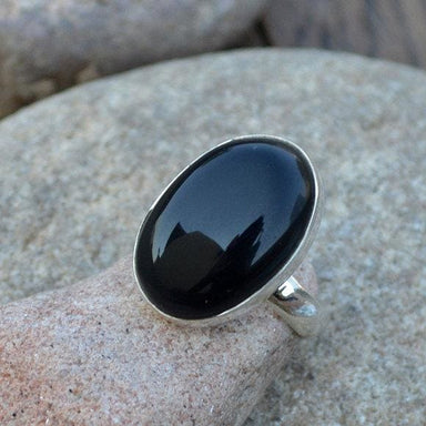 Rings Black Onyx Gemstone Ring 925 Sterling Silver Large Gift
