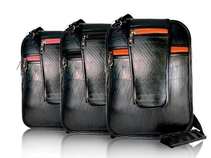 Sling Bags Black Recycled Rubber Bag