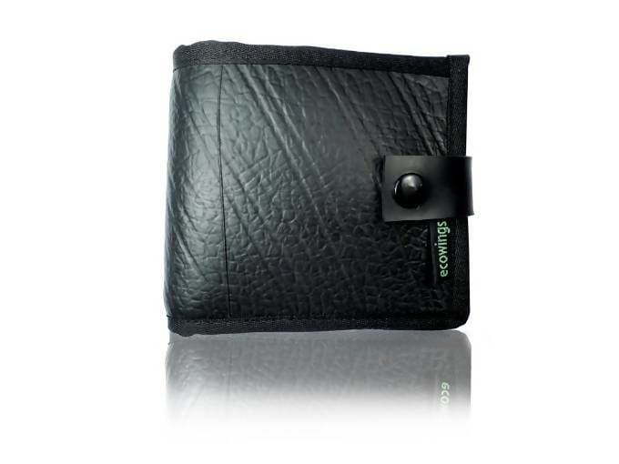 Wallets Black Vegan Leather Wallet - Buck