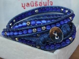 Bracelets Blue Cats Eyes Wrap Bracelet - by Warm Heart Worldwide