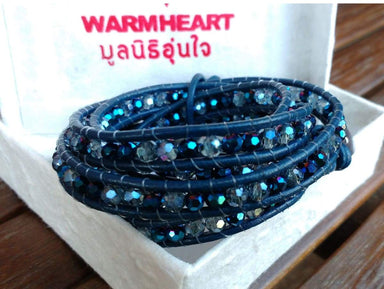 Bracelets Blue Mix Midnight Crystal Wrap Bracelet