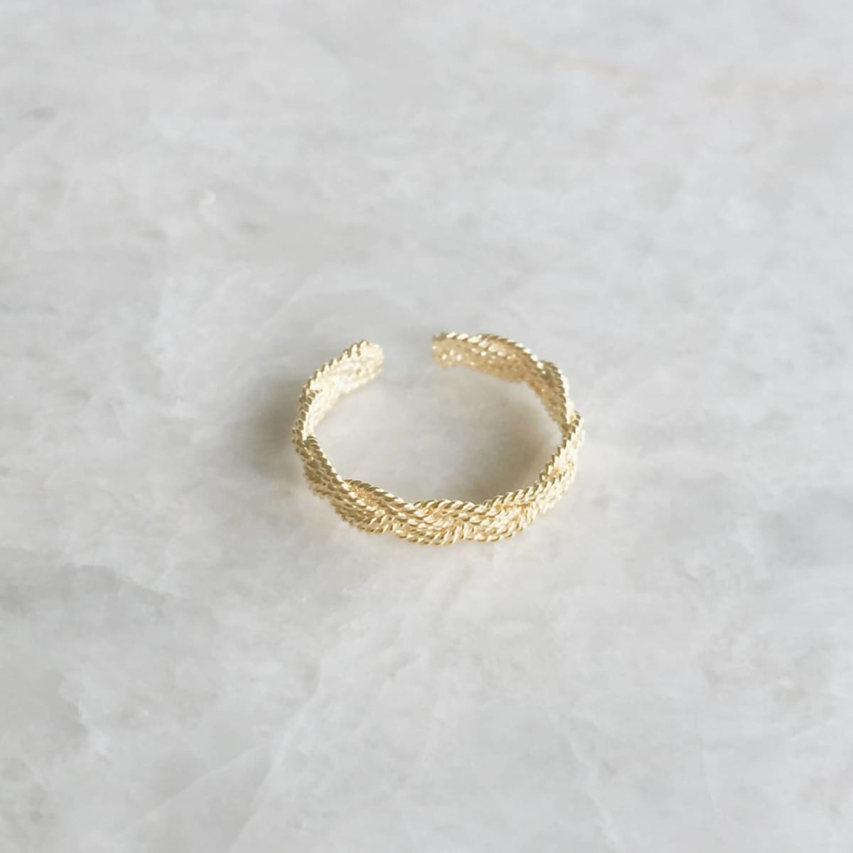 Toe Rings Braided gold infinity toe ring Gold plated silver braided Minimal Minimalist jewelry Boho (TR58) Thai Jewelry - by SilverCartel