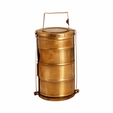 lunch boxes Brass Miniature 4 Tier box - A dabba or Indian-style tiffin carrier Bombay Dabba - by Mrinalika Jain