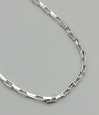necklaces Cable Neck Chain - Silver - Unisex - Long - Minimalist Style - Jewelry - 925 Sterling - GN3 - Title by NeverEndingSilver