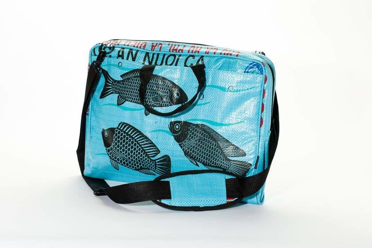 Messenger Bags Caliber Computer Bag - Sky Blue Fish by TORRAIN