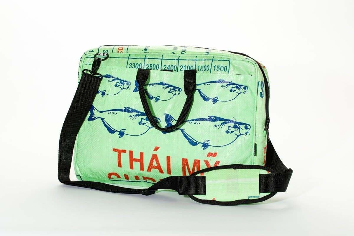 Messenger Bags Caliber Computer Bag - Green Fish by TORRAIN