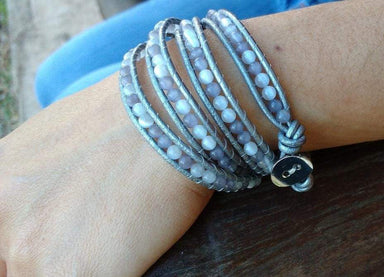 Bracelets Cats Eyes Grey Wrap Bracelet