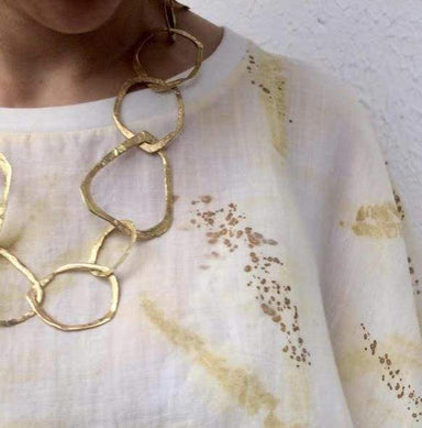 chain golden organic necklace
