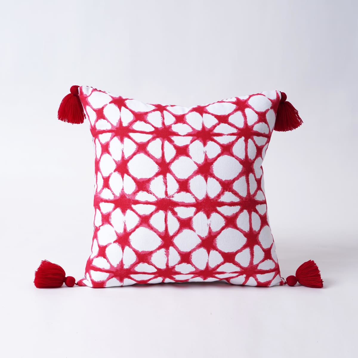 Christmas pillow cover Tie dye pattern Red and white Various size available - 16 X by VLiving