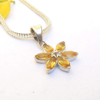 Necklaces Citrine Pendant Necklace Yellow Sterling silver necklace Birthstone women jewelry gemstone pendants gift for her ideas