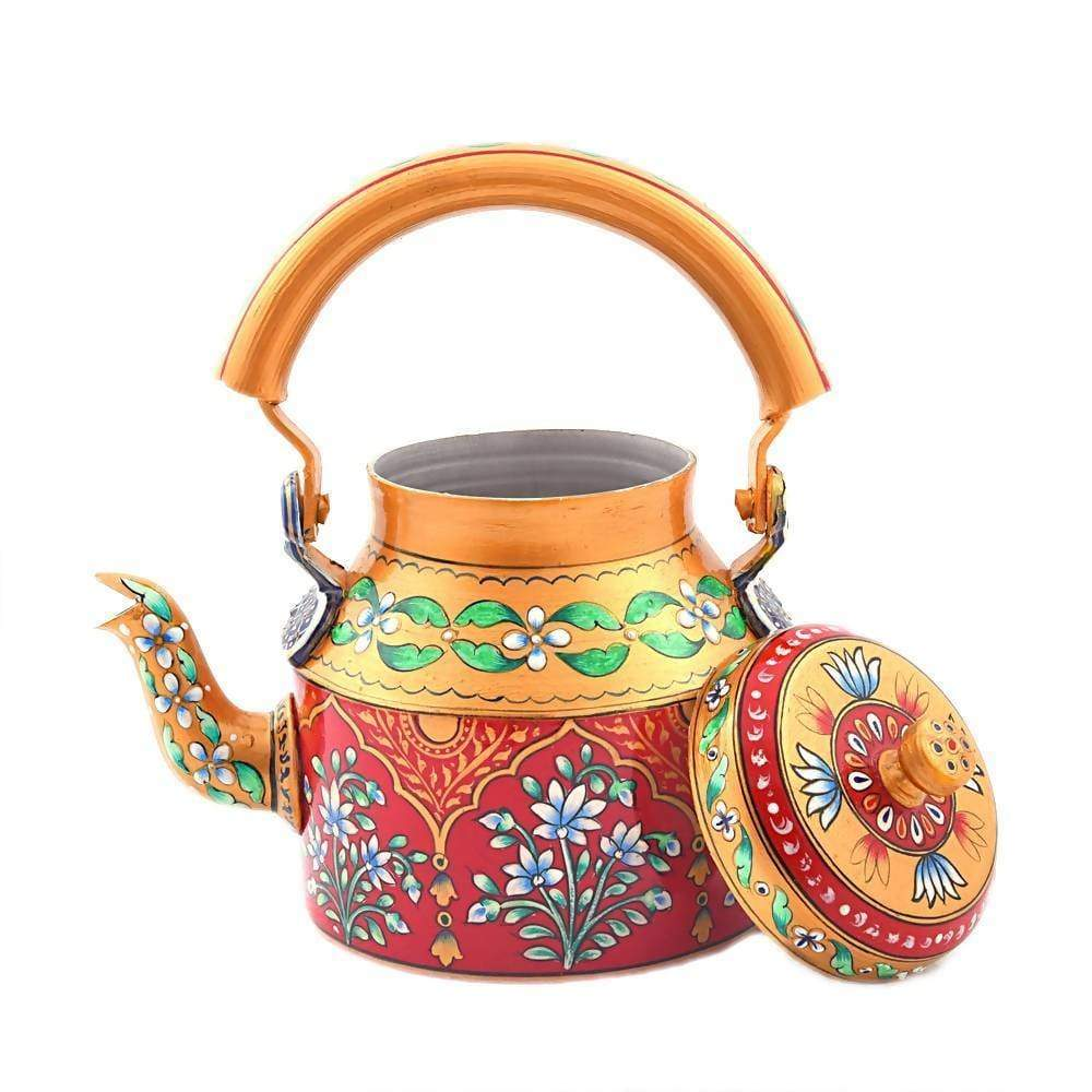 Painted Teapots Colorful Hand Tea Pot in Aluminium