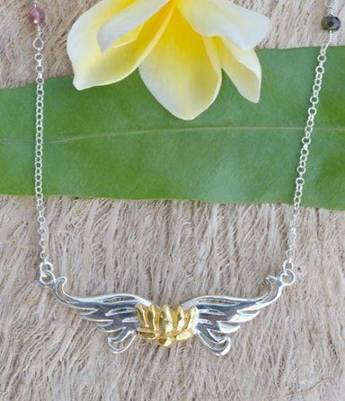 Compassion Wings- Lotus Necklace-Tourmalines