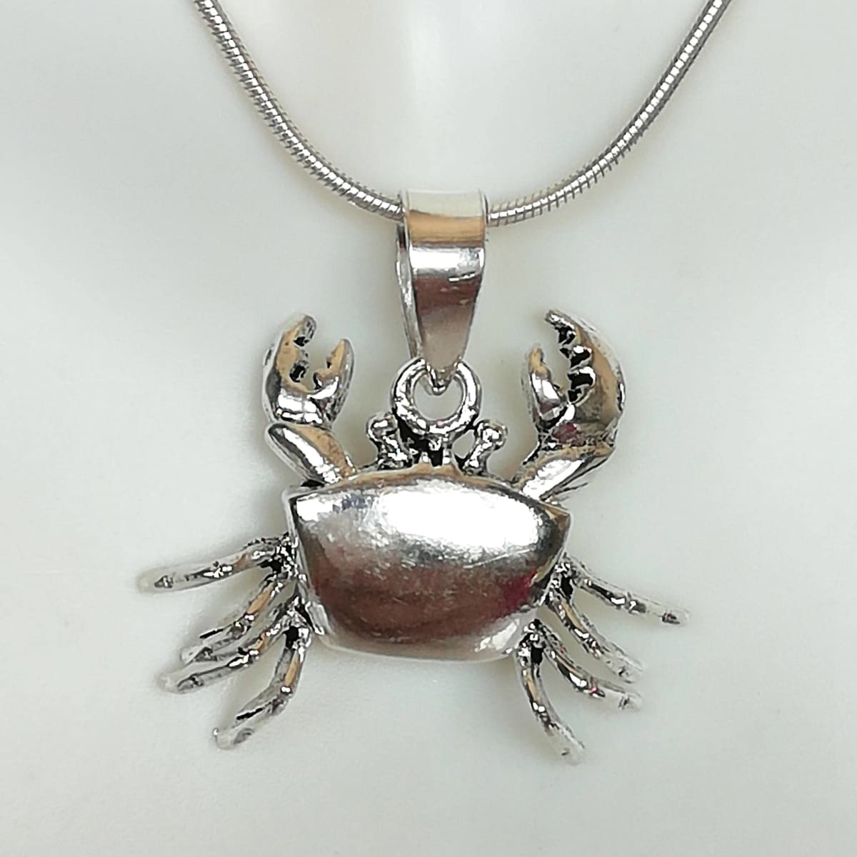 necklaces Crab Pendant - Silver Necklace - Neck Charm - Beach Jewelry - Cute Gifts - Bracelet - Unisex - PD224 - by NeverEndingSilver