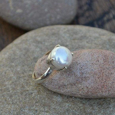 Rings Cultured South Sea Pearl Gemstone 925 Sterling Silver Ring