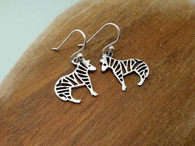 Earrings Cut Out Zebra Drop 925 Sterling Silver Handmade Earring Animal Dangle Safari Gifts
