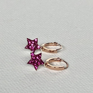 earrings CZ Star Necklace Constellation Jewelry Cartilage Hoops Rose Gold Charm Small Hoop Earrings Tiny Crystal Charms G8 - Title by