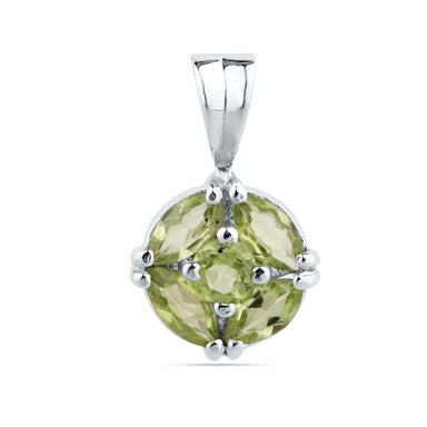 Dainty Peridot Necklace Sterling Silver Pendant August Birthstone Gift For Girlfriend Jewelry Charm