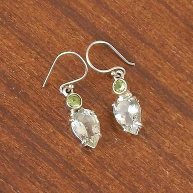 Earrings Designer Green Amethyst Peridot Prasiolite Gemstone 925 Sterling Silver Statement Dangle