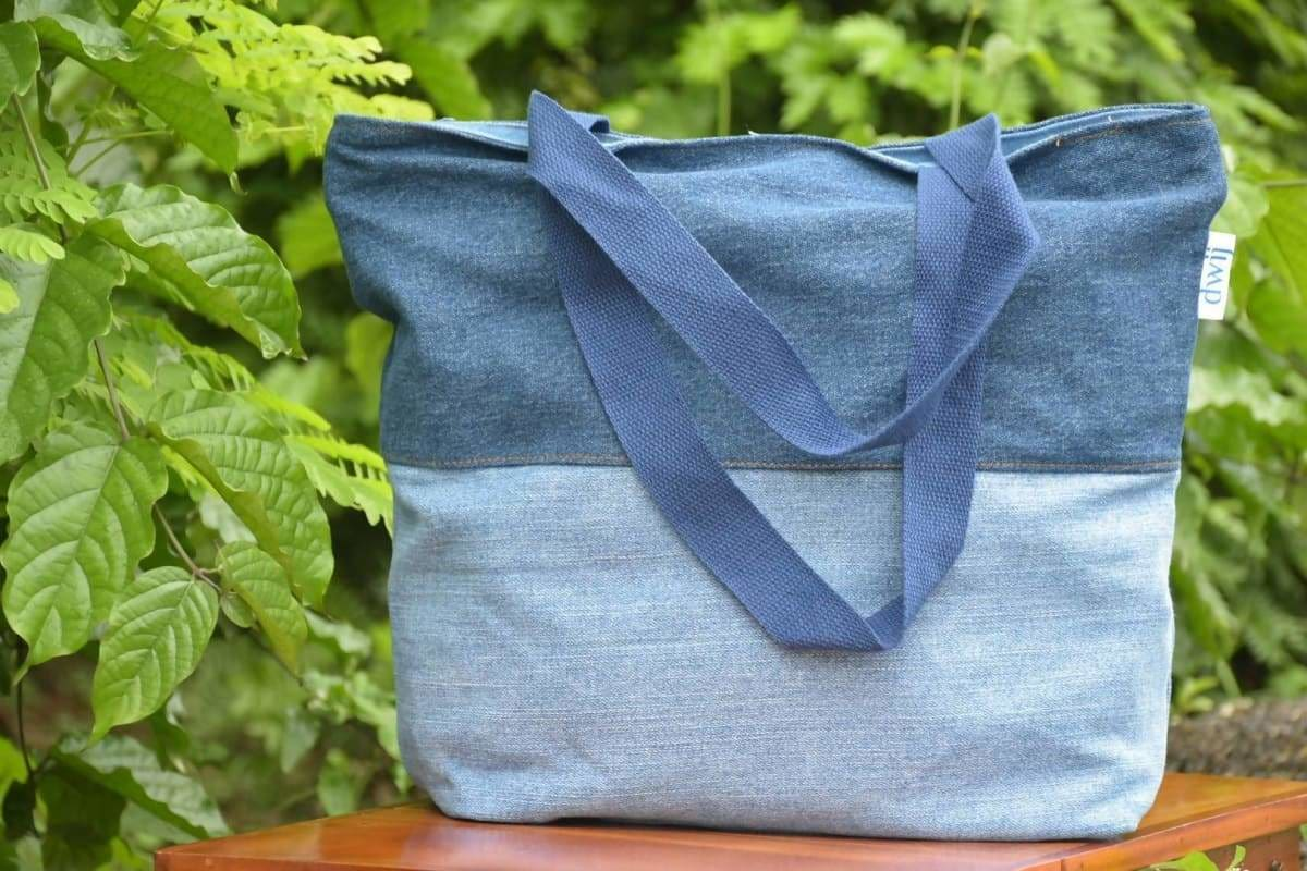 Tote Bags Dwij Upcycled Bag- Blissful - by DWIJ