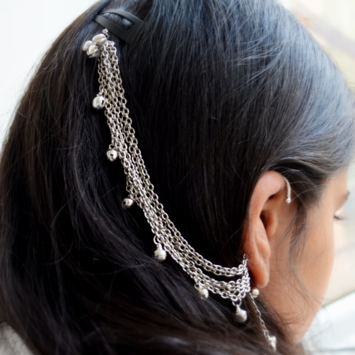 hair accessories Ear Cuff No Piercing Indian Wrap Earring Statement Jewelry - by Pretty Ponytails