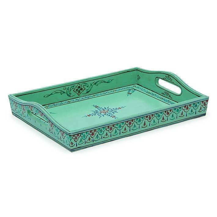 Kitchen & Dining Embossed kitchen tray in turquoise
