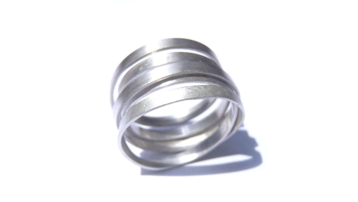 Rings Endless minimal ring in brushed or blacked sterling made your size a unisex design! - by dikua