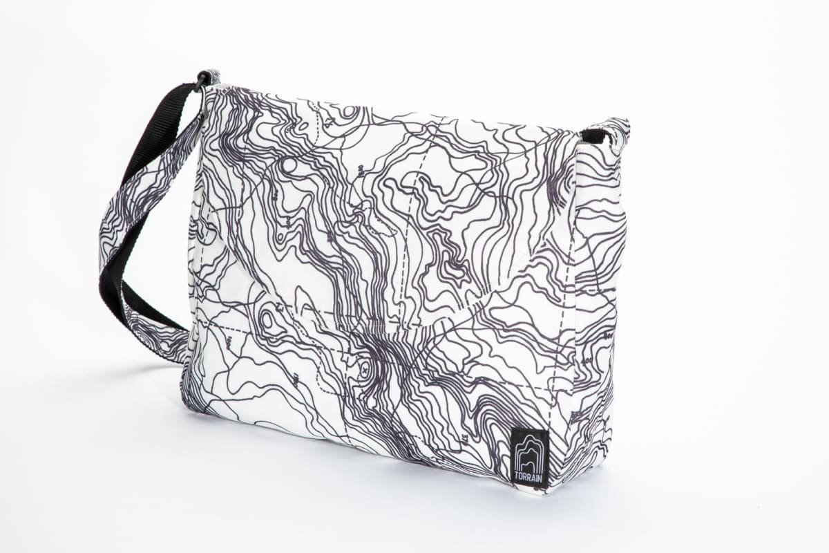 Shoulder Bags Essence Crossbody Bag - White Topography by TORRAIN