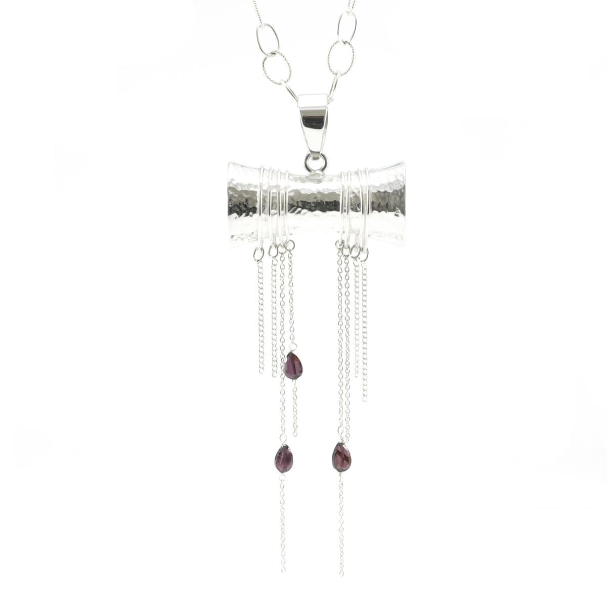 Eternal Now Pendant with Garnets