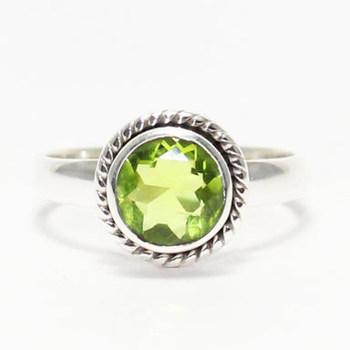 Rings Excellent GREEN PERIDOT Gemstone Ring Birthstone 925 Sterling Silver Fashion Handmade All Size Gift