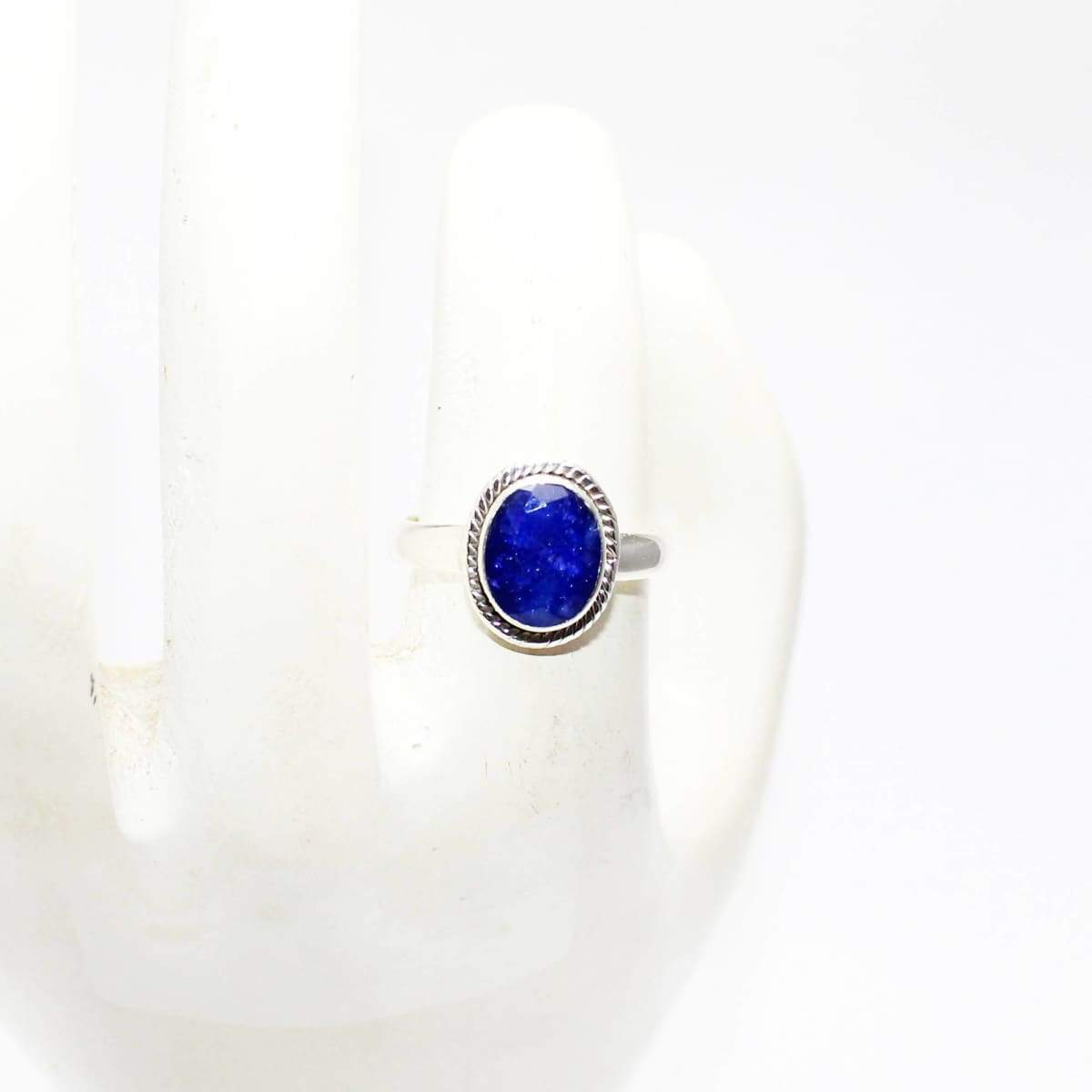 Rings Excellent NATURAL INDIAN BLUE SAPPHIRE Gemstone Ring Birthstone 925 Sterling Silver Fashion Handmade All Size Gift