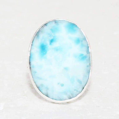 Rings Exclusive NATURAL DOMINICAN LARIMAR Gemstone Ring Birthstone 925 Sterling Silver Fashion Handmade All Size Gift