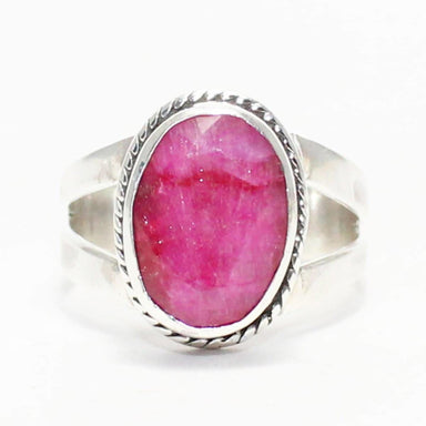 Rings Exclusive NATURAL INDIAN RUBY Gemstone Ring Birthstone 925 Sterling Silver Fashion Handmade All Size Gift