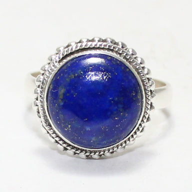rings Exclusive NATURAL LAPIS LAZULI Gemstone Ring Birthstone 925 Sterling Silver Fashion Handmade Jewelry All Size Gift - by Zone
