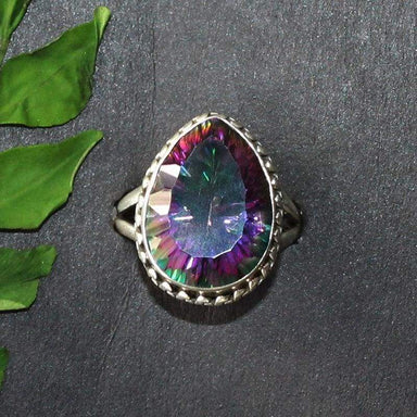 Rings Exotic MIDNIGHT MYSTIC TOPAZ Gemstone Ring Birthstone 925 Sterling Silver Fashion Handmade All Size Gift