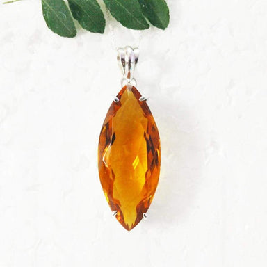 Necklaces Exotic YELLOW CITRINE Gemstone Pendant Birthstone 925 Sterling Silver Fashion Handmade Free Chain Gift
