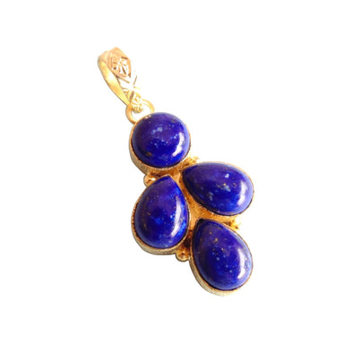 Fashionably 18K Gold Plated Blue Lapis Lazuli Birthstone Women Pendant