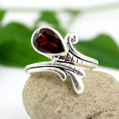 Rings Garnet Ring Stone Gemstone Jewellery 925 Sterling Silver