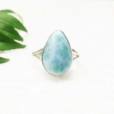 Genuine NATURAL DOMINICAN LARIMAR Gemstone Ring Birthstone Ring 925 Sterling Silver Ring Fashion Handmade Ring All Ring Size Gift Ring -
