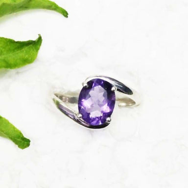 Genuine NATURAL PURPLE AMETHYST Gemstone Ring Birthstone Ring 925 Sterling Silver Ring Fashion Handmade Ring All Ring Size Gift Ring - Title