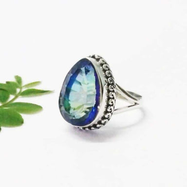 Gorgeous MIDNIGHT MYSTIC TOPAZ Gemstone Ring Birthstone Ring 925 Sterling Silver Ring Fashion Handmade Ring All Ring Size Gift Ring - Rings