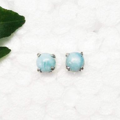 Earrings Gorgeous NATURAL DOMINICAN LARIMAR Gemstone Birthstone 925 Sterling Silver Fashion Handmade Stud Gift