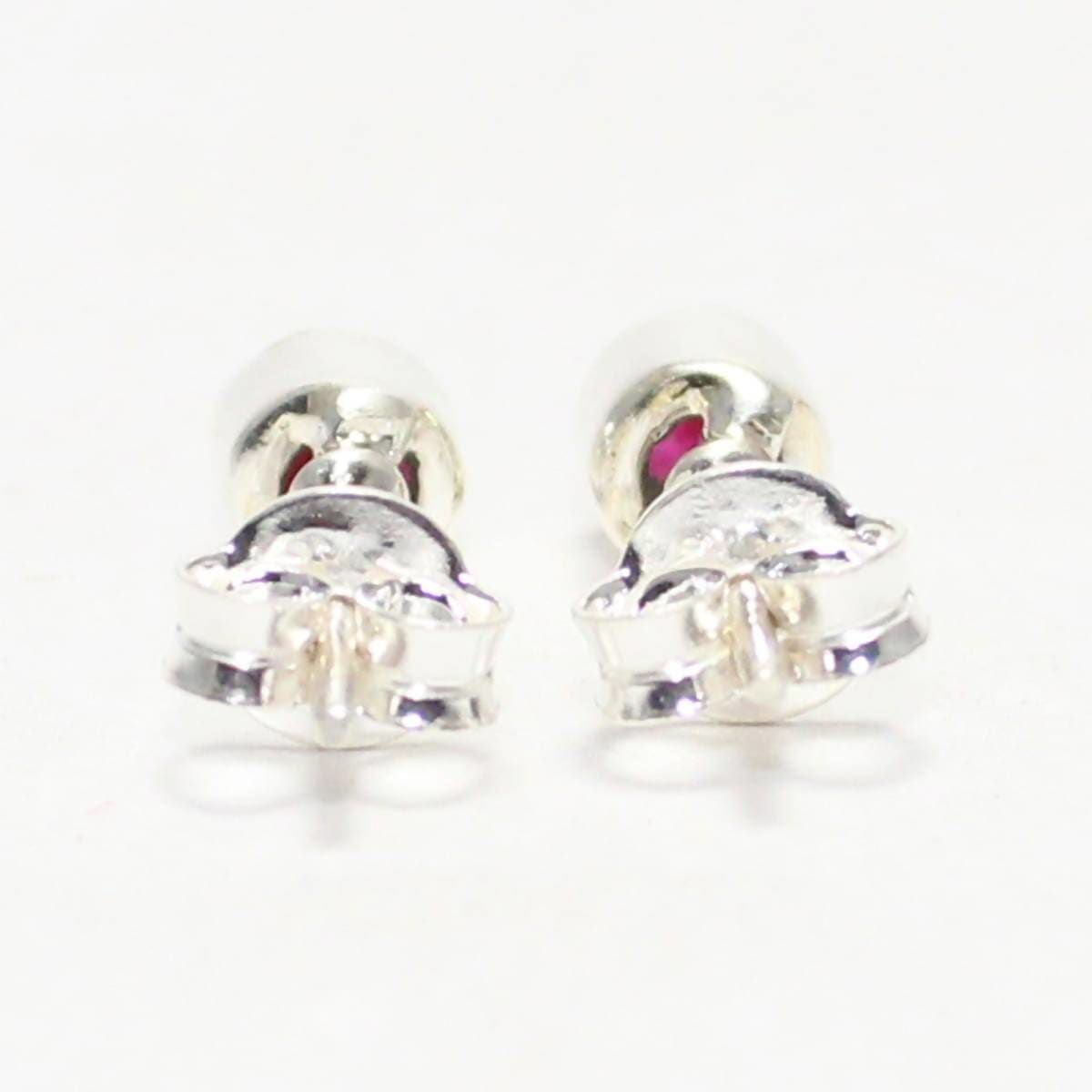 earrings Gorgeous NATURAL INDIAN RUBY Gemstone Earrings Birthstone 925 Sterling Silver Stud - by Jewelry Zone