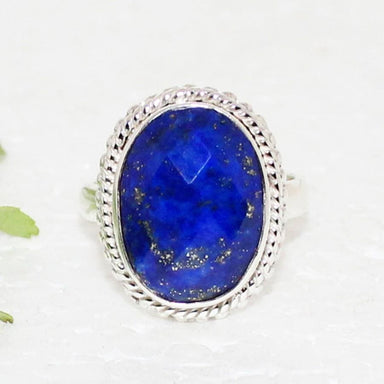 rings Gorgeous NATURAL LAPIS LAZULI Gemstone Ring Birthstone 925 Sterling Silver Fashion Handmade Jewelry All Size Gift - by Zone